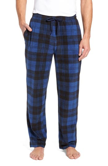 Nordstrom Men's Shop Print Microfleece Pants