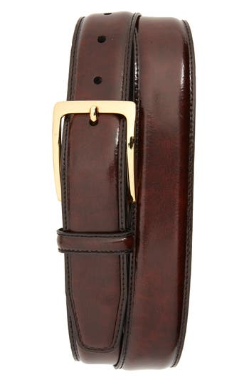 Johnston & Murphy Smooth Leather Belt