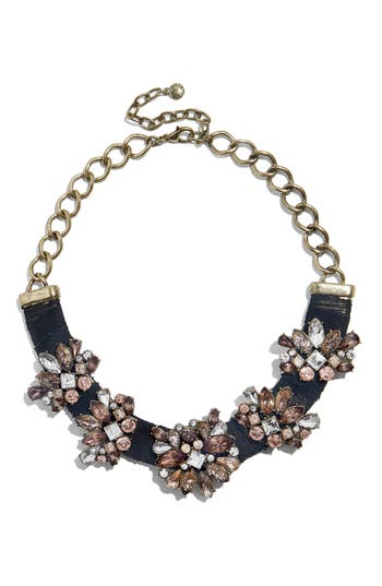 BaubleBar Velvet Gem Frontal Collar Necklace