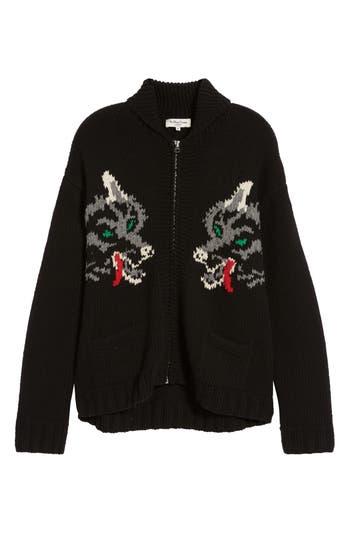 YMC Wolf Cardy Zip Wool Sweater