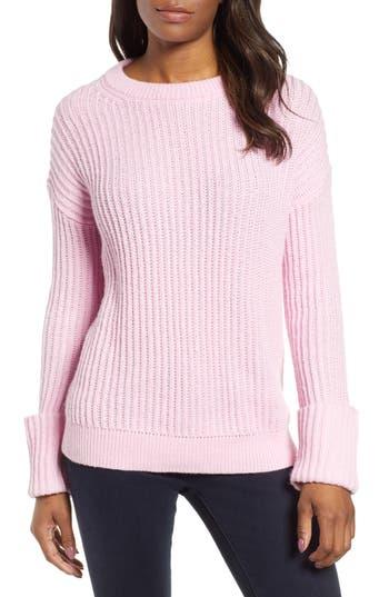 Caslon® Cuffed Sleeve Shaker Sweater