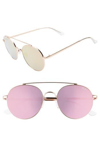 Quay Australia Outshine 53mm Round Sunglasses