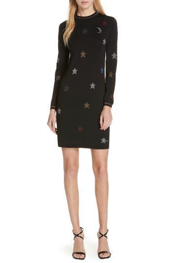 Ted Baker London Colour by Numbers Yayl Metallic Star Knit Dress