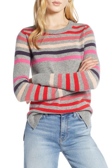 Halogen® Crewneck Cashmere Sweater