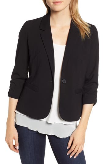 Vince Camuto Ruched Sleeve Blazer