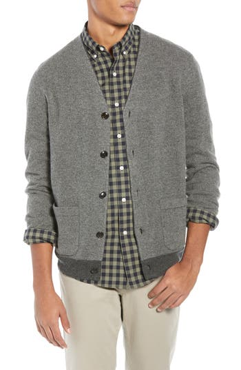 J.Crew Bird's Eye Lambswool Blend Cardigan Sweater