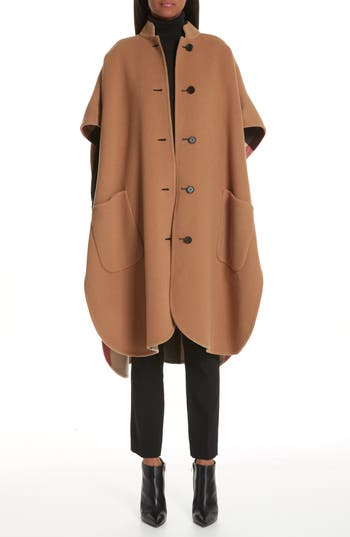 Burberry Reversible Check Wool Blend Cape