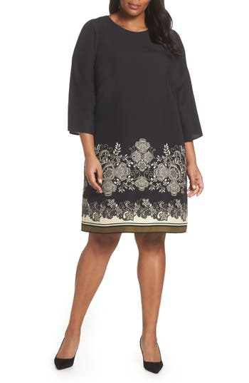 Vince Camuto Ornate Paisley Shift Dress