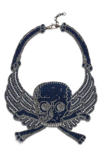 The Accessory Junkie Skull Bib Necklace
