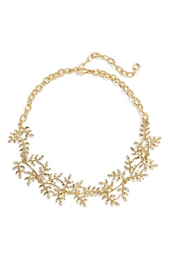 BaubleBar Leaf Statement Necklace