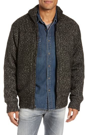 Schott NYC Wool Blend Zip Sweater Jacket