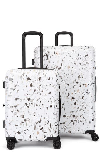 CALPAK Terrazo 30-Inch & 22-Inch Hardshell Spinner Suitcase & Carry-On Set