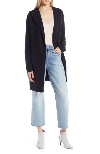 Halogen® Hooded Wool & Cashmere Cardigan