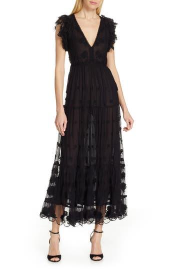 Ulla Johnson Fifi Embroidered Tulle Maxi Dress