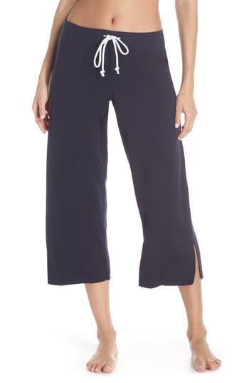 Something Navy Fleece Crop Pants