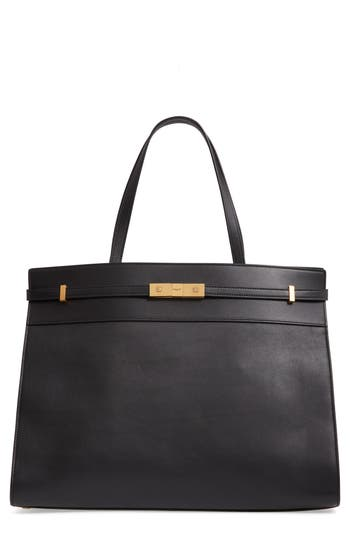 Saint Laurent Medium Manhattan Leather Satchel