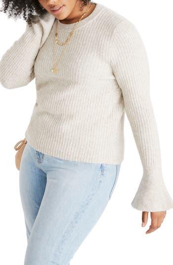 Madewell Ruffle Cuff Pullover Sweater