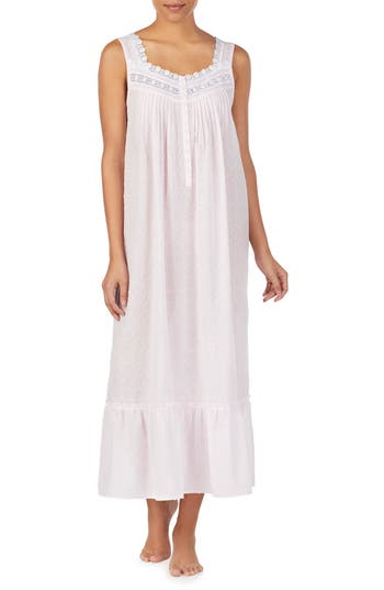 Eileen West Long Cotton Nightgown
