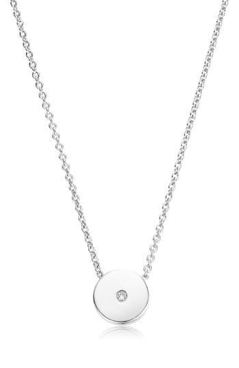 Monica Vinader Linear Solo Diamond Pendant Necklace