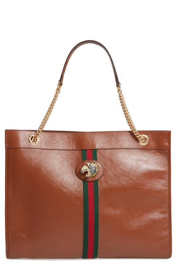 Gucci Large Linea Rajah Leather Tote