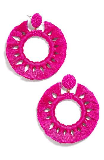BaubleBar Adrita Beaded Tassel Hoop Earrings