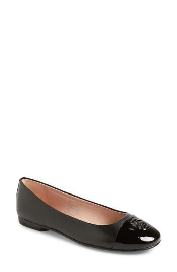 Taryn Rose Collection Adrianna Cap Toe Skimmer Flat (Women)