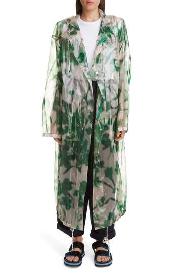 Dries Van Noten Royage Transparent Floral Hooded Raincoat