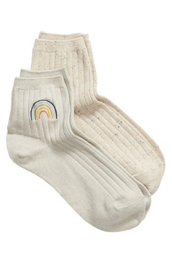 Madewell 2-Pack Rainbow & Confetti Ankle Socks