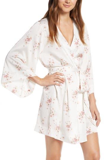Homebodii Ditsy Floral Short Satin Robe