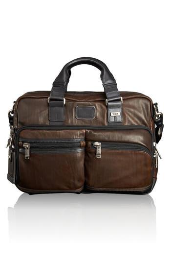 Men's Tumi 'Bravo' Leather Commuter Briefcase - Brown