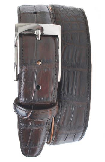 Men's Martin Dingman 'Wellington' Matte Finish Genuine Alligator Leather Belt