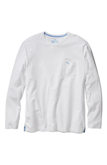 Big & Tall Tommy Bahama Bali Skyline Long Sleeve Pima Cotton T-Shirt - White