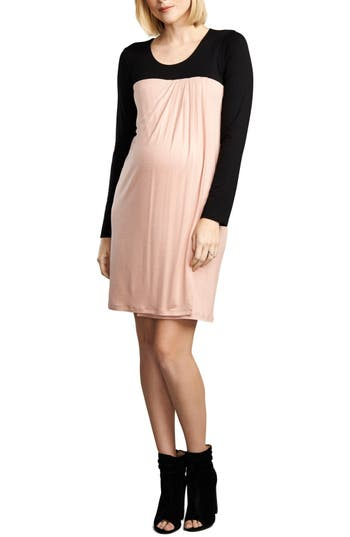 Maternal America Baby Doll Maternity/nursing Dress, Pink