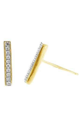 Bony Levy Prism Diamond Bar Stud Earrings