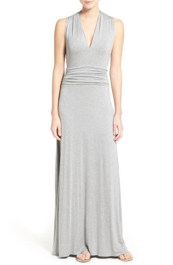 Petite Vince Camuto V-Neck Maxi Dress, Grey