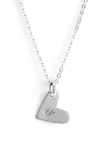 Women's Nashelle Initial Heart Pendant Necklace