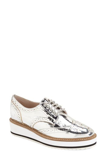 Shellys London Emma Platform Oxford Metallic