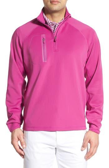 Men's Bobby Jones Xh2O Crawford Stretch Quarter Zip Golf Pullover, Size Medium - Purple