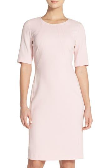 Eliza J Crepe Sheath Dress, Pink