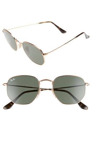 Ray-Ban 51mm Hexagonal Flat Lens Sunglasses