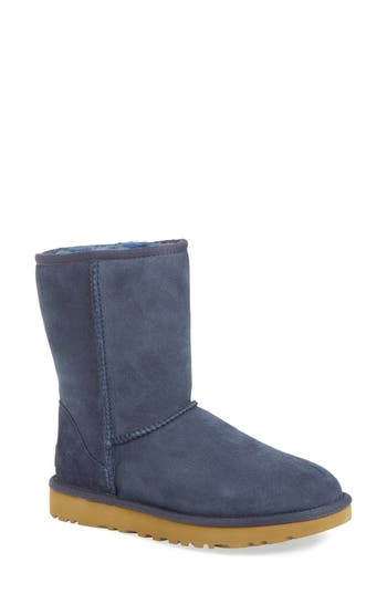 Womens Ugg Classic Ii Genuine Shearling Lined Short Boot Size 8 M  Blue