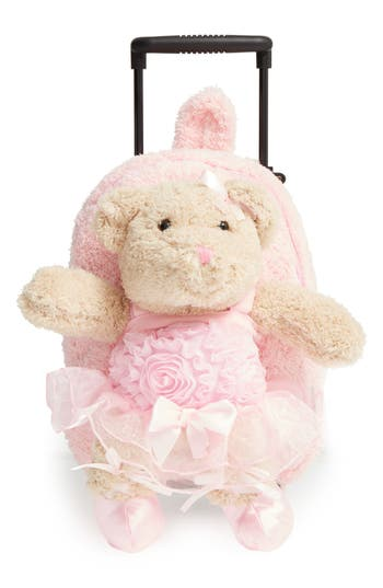 Girls Popatu Trolley  Ballet Bear Rolling Backpack