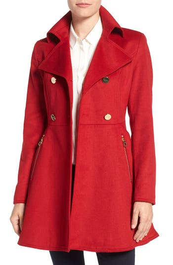 Women's Laundry By ShelliSegalDouble Breasted Fit & Flare Coat