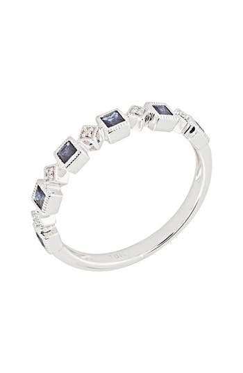 Women's Bony Levy Stackable Diamond & Sapphire Band Ring (Nordstrom Exclusive)