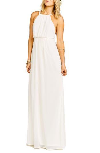 Show Me Your Mumu Amanda Open Back Blouson Gown, White
