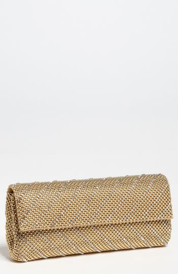 Whiting & Davis 'Crystal Chevron' Flap Clutch - at NORDSTROM.com