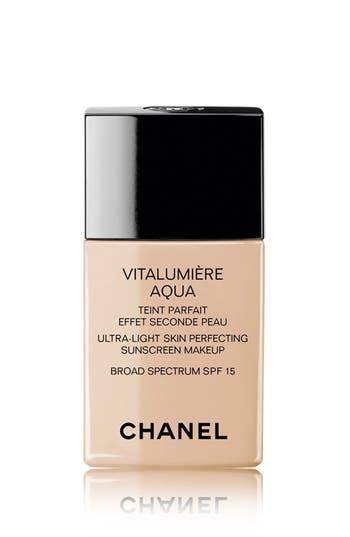 Chanel Vitalumière Aqua Ultra-Light Skin Perfecting Sunscreen Makeup Broad Spectrum Spf 15 - 10 Beige