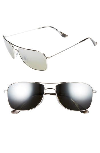 Ray-Ban 5m Chromance Aviator Sunglasses - Shiny Silver/grey Mirror