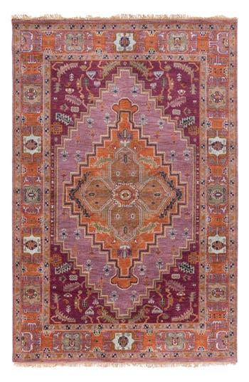 Surya Home Zeus Global Wool Rug, Size Swatch - Purple
