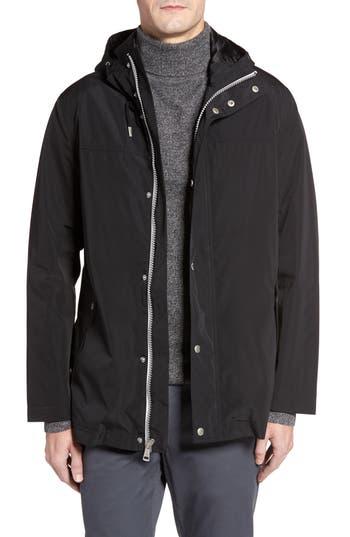 Cole Haan Packable Hooded Rain Jacket, Black